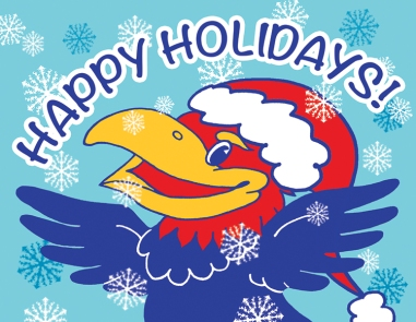 KU HAPPY HOLIDAYS postcard