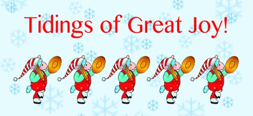 tidings of great joy card front